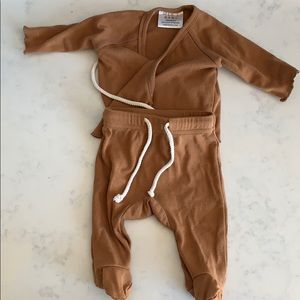 Mebie Baby Cotton Brown Layette Pajamas Newborn